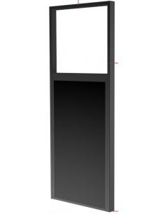 """Peerless DS-OM55ND-FLOOR fäste för skyltningsskärm 139.7 cm (55"""") Svart Peerless DS-OM55ND-FLOOR - 1"""