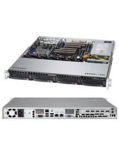 Supermicro CSE-813MFTQC-505CB datorväskor Ställning Svart 500 W Supermicro CSE-813MFTQC-505CB - 1