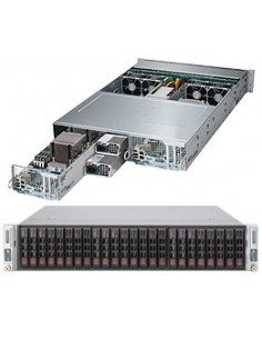Supermicro 2028TP-DNCTR Intel® C612 LGA 2011 (Socket R) Teline ( 2U ) Musta, Harmaa Supermicro SYS-2028TP-DNCTR - 1