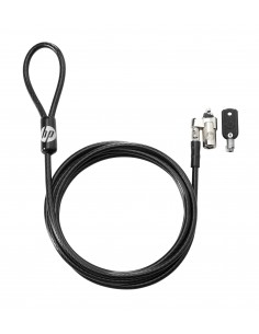 HP Keyed 10 mm cable lock Black 1.83 m Hp T1A62AA - 1