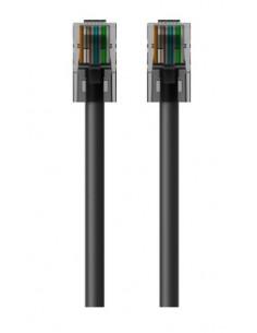 Belkin RJ45-RJ45, Cat6, 2m networking cable Black Belkin A3L981BT02MBKHS - 1