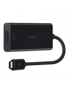 Belkin F2CU038BTBLK cable gender changer USB type C HDMI Svart Belkin F2CU038BTBLK - 1