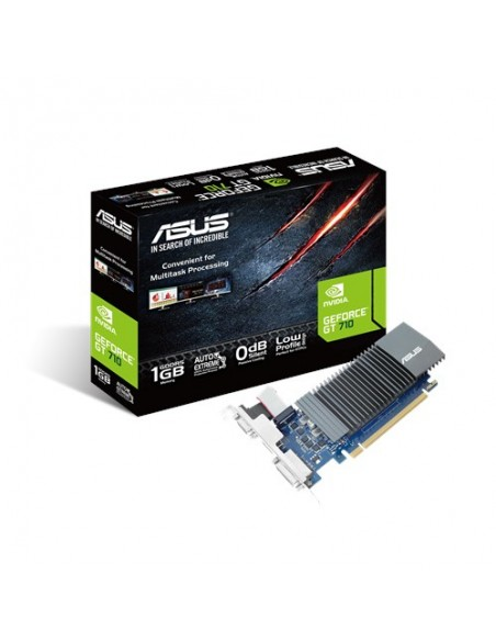 ASUS 90YV0AL0-M0NA00 graphics card NVIDIA GeForce GT 710 1 GB GDDR5 Asus 90YV0AL0-M0NA00 - 1