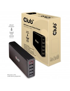 CLUB3D CAC-1903EU mobiililaitteen laturi Musta Sisätila Club 3d CAC-1903EU - 1