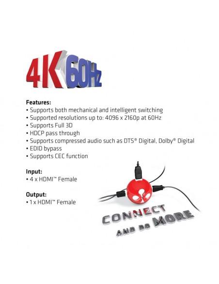 CLUB3D HDMI 2.0 UHD SwitchBox 4 Ports Club 3d CSV-1370 - 5