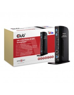 CLUB3D USB 3.0 Dual Display 4K60Hz Docking Station Club 3d CSV-1460 - 1