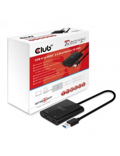 CLUB3D USB A to HDMI™ 2.0 Dual Monitor 4K 60Hz Club 3d CSV-1474 - 1