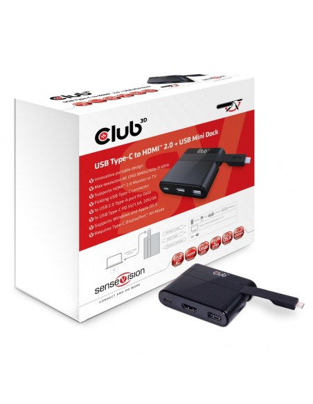CLUB3D USB Type-C to HDMI™ 2.0 + Charging Mini Dock Club 3d CSV-1534 - 1