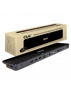 CLUB3D USB TC3.2 Gen 1 Trip dyn PD C60W-100W Docking 3.2 (3.1 1) Type-C Black Club 3d CSV-1564 - 1