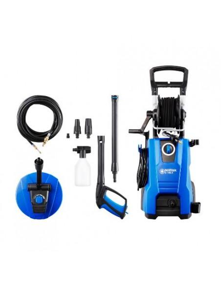 Nilfisk D 140.4 högtryckstvätt Kompakt Elektrisk 550 l/h 2400 W Svart, Blå Nilfisk 128471177 - 1
