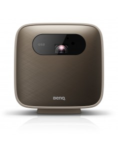 Benq Pico dataprojektori Kannettava projektori 500 ANSI lumenia DLP 1080p (1920x1080) Ruskea, Harmaa Benq GS2 - 1