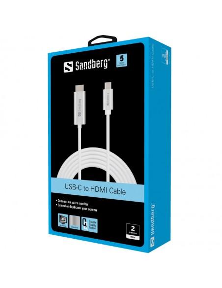 Sandberg USB-C to HDMI Cable 2M USB Type-C Hopea Sandberg 136-21 - 2