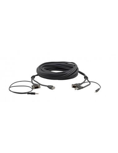 Kramer Electronics 92-2212003 kaapeli liitäntä / adapteri VGA, 3.5m, RJ-45 Musta Kramer 92-2212003 - 1