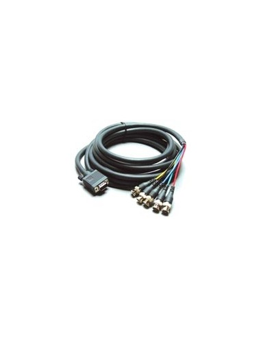 Kramer Electronics Molded 15-pin HD to 5 BNC Breakout Cable(Male - Male ) 7.62 m Grey Kramer 92-5105025 - 1