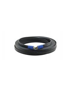 Kramer Electronics C-HM/HM/FLAT/ETH-3 HDMI-kaapeli 0.9 m HDMI-tyyppi A (vakio) Musta Kramer 97-01014003 - 1