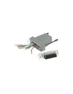 C2G RJ45 / DB15M Modular Adapter Grey C2g 81536 - 1