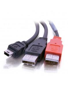 C2G USB Mini-B/USB A Y-Cable USB-kablar 2 m 2.0 Mini-USB B Svart C2g 81577 - 1