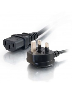 C2G 2m 16 AWG UK Power Cord (IEC320C13 to BS 1363) C2g 88513 - 1