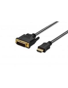 Ednet 84485 videokabeladapter 2 m HDMI DVI-D Svart Assmann 84485 - 1