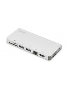 Digitus DA-70866 dockningsstationer för bärbara datorer Kabel USB 3.2 Gen 2 (3.1 2) Type-C Silver Assmann DA-70866 - 1