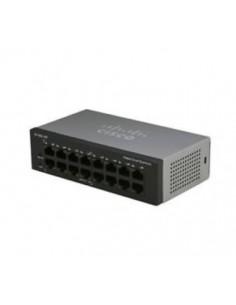 Cisco Small Business SF110D-16HP Hallitsematon L2 Fast Ethernet (10/100) Power over -tuki Musta Cisco SF110D-16HP-EU - 1