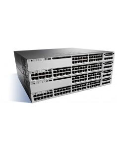 Cisco Catalyst WS-C3850-24U-E network switch Managed Gigabit Ethernet (10/100/1000) Black, Grey Cisco WS-C3850-24U-E - 1
