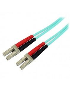 StarTech.com A50FBLCLC10 valokuitukaapeli 10 m LC OM3 Aqua Startech A50FBLCLC10 - 1