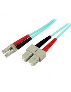 StarTech.com 2 m 10 GB Aqua 50/125 Duplex LSZH multiläge fiberpatchkabel LC - SC Startech A50FBLCSC2 - 1