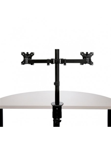 "StarTech.com ARMDUAL2 monitorin kiinnike ja jalusta 81.3 cm (32"") Puristin Musta Startech ARMDUAL2 - 6"