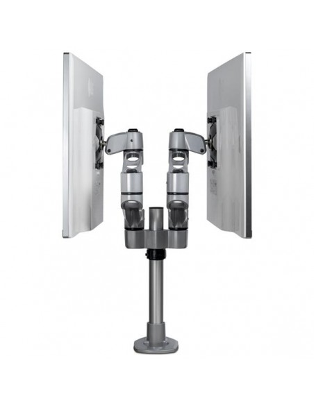 "StarTech.com ARMDUALPS monitorin kiinnike ja jalusta 68.6 cm (27"") Puristin Hopea Startech ARMDUALPS - 7"