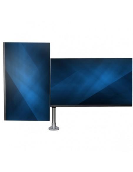 "StarTech.com ARMDUALPS monitorin kiinnike ja jalusta 68.6 cm (27"") Puristin Hopea Startech ARMDUALPS - 11"