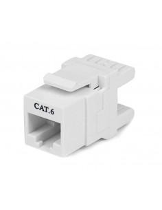 StarTech.com 180° Cat 6 Keystone Jack - RJ45 Ethernet Cat6 Wall White 110 Type Startech C6KEY110SWH - 1