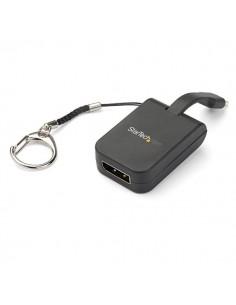 StarTech.com Compact USB C to DisplayPort 1.4 Adapter - 8K 60Hz/4K USB-C DP Video Converter w/ Keychain Ring Type-C Alt Mode Sta