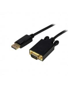 StarTech.com 10 ft DisplayPort to VGA Adapter Converter Cable – DP 1920x1200 - Black Startech DP2VGAMM10B - 1