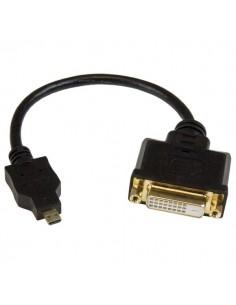 StarTech.com HDDDVIMF8IN videokaapeli-adapteri 0.2 m Micro-HDMI DVI-D Musta Startech HDDDVIMF8IN - 1