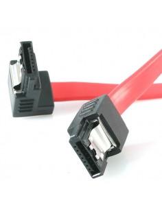 """StarTech.com 12"""" latching sata cable - 1 Right Angle M/M SATA-kaapeli 0.3 m Punainen Startech LSATA12RA1 - 1"""