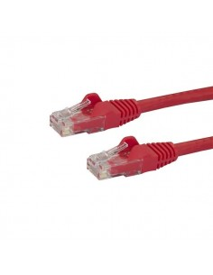 StarTech.com 2m CAT6 Ethernet Cable - Red CAT 6 Gigabit Wire -650MHz 100W PoE RJ45 UTP Network/Patch Cord Snagless w/Strain Star