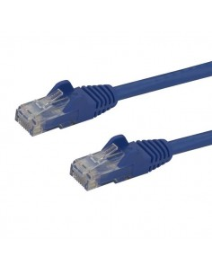 StarTech.com 50cm CAT6 Ethernet Cable - Blue CAT 6 Gigabit Wire -650MHz 100W PoE RJ45 UTP Network/Patch Cord Snagless w/Strain S