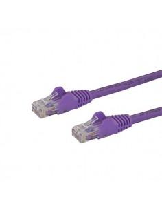 StarTech.com Cat6 Ethernet patchkabel med hakfria RJ45-kontakter - 0.5 m, lila Startech N6PATC50CMPL - 1