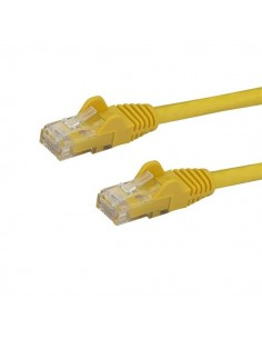 StarTech.com 5m CAT6 Ethernet Cable - Yellow CAT 6 Gigabit Wire -650MHz 100W PoE RJ45 UTP Network/Patch Cord Snagless w/Strain S