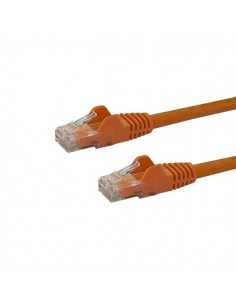 StarTech.com 7m CAT6 Ethernet Cable - Orange CAT 6 Gigabit Wire -650MHz 100W PoE RJ45 UTP Network/Patch Cord Snagless w/Strain S