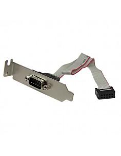 StarTech.com 9 Pin Serial Male to 10 Motherboard Header LP Slot Plate Startech PLATE9MLP - 1