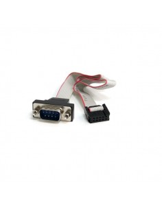 StarTech.com 16in 9 Pin Serial Male to 10 Motherboard Header Panel Mount Cable Startech PNL9M16 - 1