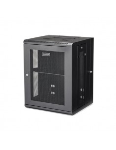 """StarTech.com 15U 19"""" Wall Mount Network Cabinet - 16"""" Deep Hinged Locking IT Switch Depth Enclosure Assembled Vented Computer St"""