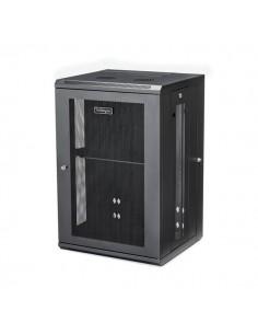 StarTech.com 18U väggmonterat serverrackskåp - 20 tum (50,8 cm) djupt gångjärnsupphängning Startech RK1820WALHM - 1