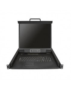 """StarTech.com 16 Port Rackmount KVM Console w/ 6ft Cables - Integrated Switch 19"""" LCD Monitor Fully Featured 1U Drawer- OSD Start"""