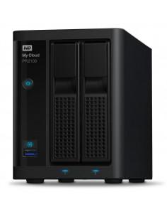 Western Digital My Cloud PR2100 NAS Skrivbord Nätverksansluten (Ethernet) Svart N3710 Western Digital WDBBCL0200JBK-EESN - 1