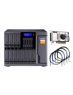 """QNAP TL-D1600S storage drive enclosure HDD/SSD Black, Grey 2.5/3.5"""" Qnap TL-D1600S - 1"""