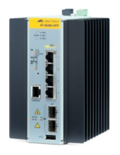Allied Telesis AT-IE200-6FP-80 hanterad L2 Fast Ethernet (10/100) Strömförsörjning via (PoE) stöd Svart, Grå Allied Telesis AT-I