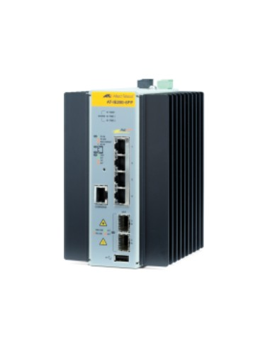 Allied Telesis AT-IE200-6FP-80 Hallittu L2 Fast Ethernet (10/100) Power over -tuki Musta, Harmaa Allied Telesis AT-IE200-6FP-80